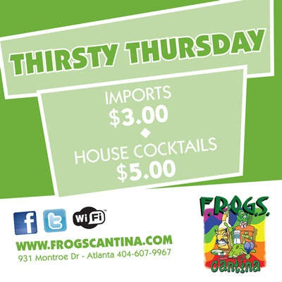 FROGS Food & Drink Specials